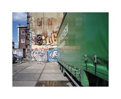 urban parking (ha*voc) Tags: urban 120 film amsterdam mediumformat urbandecay rangefinder 6x7 urbanfragments 65mm mamiya7ii urbanentropy lomo800