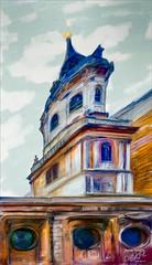 Freaky Little Building (Digital Lady Syd) Tags: england building london cupola