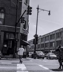 North Ave, Milwaukee corner pic 8 4-25-2016 (Artemortifica) Tags: street bridge sky chicago cars clouds buildings construction blueline crane bikes graffity milwaukee western trucks damen