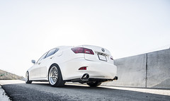 _DSC3164 (CheezyCheeto) Tags: white lake cars car wheel docks sedan boat is dock pond parking low wheels drop structure turbo cal launch pomona rim rims genesis hyundai poly coupe lowered dropped puddingstone imports lexus cpp launching is350 20t is250 purist purists importscpp