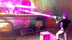 594 (Beth Amphetamines) Tags: pink cambridge wallpaper outfit screenshot mix holding pretty purple ghost shell rifles gits redhead labs laser inthe dying blasts beams lazer lizzy raiders distant kusanagi cybernetic polymer n7 motoko fallout4 vaultsuit
