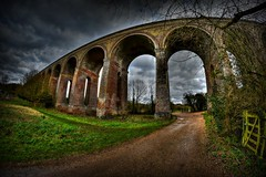 The viaduct (Steve.T.) Tags: bridge big arch victorian wideangle structure viaduct huge curve essex chapple fisheyelens civilengineering railwayviaduct samyang8mmfisheyelens d7200 chappleviaduct