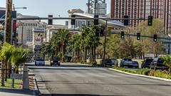 Las Vegas (Preston Ashton) Tags: road street vegas trafficlights cars sunshine sign lights hotel traffic lasvegas sunny casino resort mirage
