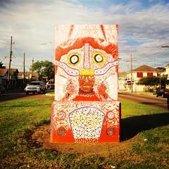 Broad St., New Orleans - Community Visions Unlimited Utility Box Project (woody lauland) Tags: art la louisiana neworleans publicart nola neworleansla mardigrasindians utilitybox artinpublicspaces hipstamatic hipstaprint communityvisionsunlimitedutilityboxproject communityvisionsunlimited cvunola