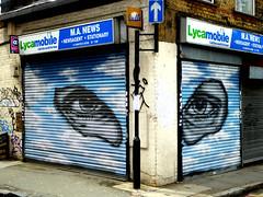 Shutters (Draopsnai) Tags: streetart graffiti eyes mural shutters spitalfields towerhamlets