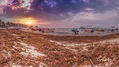 Lets go fishing.. (Gallitosoto2) Tags: sunset sky panorama sun sol beach beautiful clouds sunrise landscape outdoor playadelcarmen playa nubes hdr fujifilmx100t