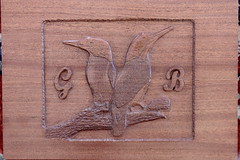 Kingfisher (Andisee) Tags: wood bird woodwork carving kingfisher