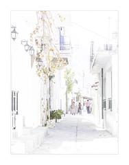 IMA_7159hb Home From School (foxxyg2) Tags: urban hk art landscape cityscape greece highkey greekislands cyclades naxos urbanlandscape islandhopping islandlife filoti hkart