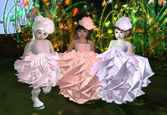 Little ladies (Alea Lamont) Tags: summer baby children toddler child mesh avatar ears fairy dresses pastels gowns cuties unicorn rp elven hooves ndmd