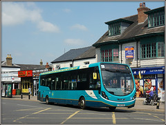 Arriva Midlands 3316 (Jason 87030) Tags: arriva midlands streetlite rugby warks warwickshire bus turquoise wheels x85 may 2018 sony ilce shops scooter street roadside publictransport route service buses transport wright 3316 x84 hinckleybus leicester blue