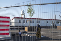 Inside the refugee camp. Tempelhof, April 2018. (joelschalit) Tags: berlin refugees migrants asylumseeker middleeast muslim arab waronterror germany deutschland europeanunion europe eu tempelhof fujifilmx100f