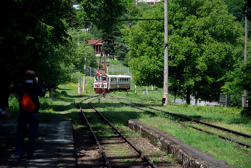 Tsagveri station - Kukushka train