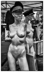 bristol flea market (Daz Smith) Tags: dazsmith fujixt20 fuji xt20 andwhite bath city streetphotography people candid portrait citylife thecity urban streets uk monochrome blancoynegro blackandwhite mono brisol fleamarket mannequins