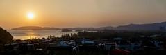 Ao Nang Sunset, pt. 2 - _TNY_7907P4 (Calle Söderberg) Tags: canon canon5dmkii canoneos5dmarkii 5d2 tamron tamronafsp247028divcusd tamronsp2470mmf28divcusd 2470 panorama thailand krabi aonang sunset sun orange andamansea sea hotel hotels kolor kolorautopanogiga pavillionqueensbay thehilltopaonang dusk view landscape sol solnedgång f45