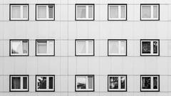 mundane (bilderkombinat berlin) Tags: ⨀2018 berlin tegel facade bw capital city eu urban pattern europa apartments blackwhite windows germany fassaden reflection