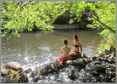 Sedona Oak Creek Swimming Hole (Photo-John) Tags: swimminghole oakcreek oakcreekcanyon sedona arizona water swim cool idyllic adventure travel outdoors bikini stockphotography stockphoto editorialphotography travelphotography swimming creek canonpowershotd20 paradise swimsuit