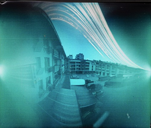 Balkony Solargraphy Approx4 Months Exposure Time By Small Pinhole Diameter