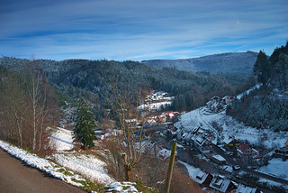 Schönmünzach, erster Schnee im November