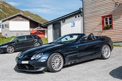 Blue SLR 722S (Nico K. Photography) Tags: mercedesbenz slr mclaren roadster 722s blue rare supercars nicokphotography switzerland oberalppass
