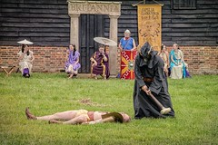 Charon Sends Another Soul To Hades (Cheesy_Nacho) Tags: roman gladiator britannia fight show reenactment chilternopenairmuseum reenacting history fighting