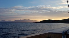 Sunset from Bernera Bay, Lismore