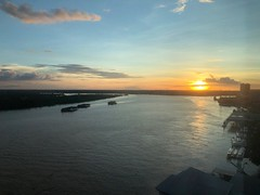 Sunset over Sibu (BiggestWoo) Tags: evening night sun river borneo sibu sunset