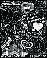 CLUB HEAT poster 10 (leannaperry) Tags: leannaperry clubheat gallery galleryshow poster posters postershow popup popupshop artshow art artist design designer luxury illustration graphicdesign ink draw drawing prints heat brooklyn ny coolergallery newyork pattern handlettering goth emo myspace flame