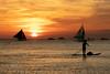 Sunset-Padler on Boracay (Chrisdevillio) Tags: seasunset holidays sunny sunset canoneos nature philippinen canon philippines orange sea beach boracay sunsetatsea sunsetmood canonschweiz suntouchground sunnyday beautifulday canonphotography beautiful suntouchsea malay westernvisayas ph