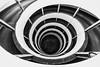 One for Maui (Zesk MF) Tags: architecture bw black white down zesk mono be chrome monochrome spiral optic strudel spirale