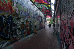 Graffiti alley in Cambridge