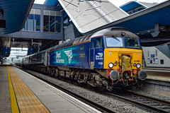 57306 + 57605 - Reading - 31/05/18. (TRphotography04) Tags: direct rail services drs 57306 her majestys railway inspectorate 175 great western railways gwr 57605 totnes castle idle trough reading top tailing 5a40 0715 london paddington traincare depot empty sleeper stock move