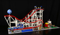 Classic Space Coaster (Frost Bricks) Tags: lego rollercoaster roller coaster moc classic space theme park fun