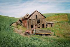 Past It (Pedalhead'71) Tags: abandoned barn palouse rural truck washington whitmancounty wheat