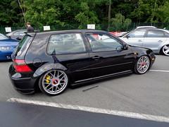 VW Golf 4 (911gt2rs) Tags: treffen meeting show event tuning tief low stance mk4 gti iv dub custom schwar black bbs felgen wheels rims