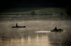 Fishing in foggy waters. (donnieking1811) Tags: tennessee cookeville lake foggywaters fishing silhouette canon 60d lightroom