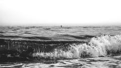 Black and White - Beach (Nik2o) Tags: roses catalunya espagne es beach plage playa nikon d7500 blackwhite black white noirblanc noir blanc water wave vague sea mer mar agua eau ecume foam sigma 50mm art focus f16 nik2o