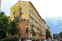 My Home (JuliSonne) Tags: streetart urbanekunst mauer wall graffiti colors scene urban pasteup stencil street berlin herakut muralfestivalberlin2018