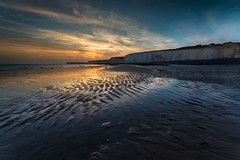Birling Gap Sunset - Sussex (E_W_Photo) Tags: birlinggap sevensisters sunset southdowns sussex beach cliff sea canon 80d sigma 1020mm leefilters