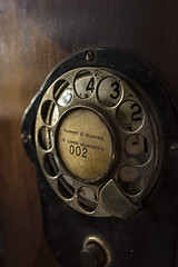 Autelco wall phone dial (marcello.machelli) Tags: rosso phone vintage telephone old vecchio 02 autelco wllphoe telefonodamuro wallphone museo museum museoagostinelli rome roma stilllife nikon wood legno dial