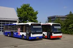 VDL Berkhof Ambassador 200 Arriva Limburg TCR 580 met kenteken BT-XF-06 en TCR 585 met kenteken BT-ZB-33 voor de bus garage in Heerlen 19-05-2018 (marcelwijers) Tags: vdl berlhof ambassador 200 arriva limburg tcr 580 met kenteken btxf06 en 585 btzb33 voor de bus garage heerlen 19052018 berkhof