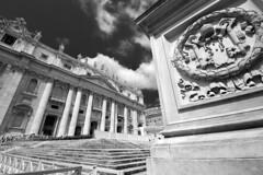 St Peter's Basilica (albireo 2006) Tags: rome roma vatican vaticano basilicaofstpeter stpetersbasilica sanpietro blackandwhitephotography bw bn blackandwhite