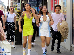 `2300 (roll the dice) Tags: london soho w1 westminster boobs nipples chinese pretty sexy girls amazing brave reaction mad fun funny happy surreal shops shopping people fashion tattoo redlight crowd busy wardour yellow hot sunny weather nude legs portrait candid strangers canon tourism tourists uk art classic england urban unaware unknown bargain sale nipslip piercing colour smile joy thai who walk eyes laugh waist latina asian