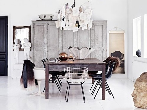 Dining  Furniture : The art of modern living - Beautiful rustic monochrome dining area. ©Photograph...