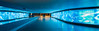 Into The Blue (drasphotography) Tags: underpass wiesbaden passage drasphotography colourcontrast farbenkontrast panoramic nightshot after dark nachtaufnahme travelphotography urban city architecture architektur