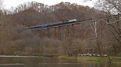 Copper Creek foam (GLC 392) Tags: copper creek foam foamer foamers bridge river photoline photo line va virginia thanks bro russel fork city hill mountain light crr clinchfield 800 csx csxt railroad railway train emd sd45 sd452 f40ph 2017 santa express 75th anniversary 3632 9992 9999 load out holler hollar trees christmas merry passenger vlix vintage locomotive works southern appalachian museum f3au fp7a sbvr road tree water forest grass car clinchport