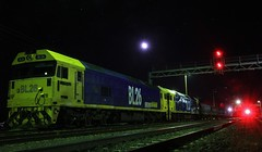 BL26 and BL33 are stabled in Dimboola yard for the night (bukk05) Tags: bl26 bl33 railpage:class=39 railpage:loco=bl26 rpausablclass rpausablclassbl26 emd16645e3 bobhawke wimmera westernstandardgaugeline wheat explore export engine emd electromotivediesel railway railroad railpage rp3 rail railwaystation railwaystations train tracks tamron tamron16300 trains yard photograph photo pn pacificnational loco locomotive light timeexposure horsepower hp hindmarsh shireofhindmarsh grain graincorp flickr freight diesel dimboola station standardgauge sg sky signal australia artc autumn canon60d canon clyde clydeengineering jt26c2ss victoria vr victorianrailway vline victorianrailways night moon