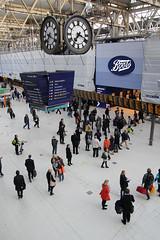 London Waterloo Station, May 16th 2013 (Southsea_Matt) Tags: unitedkingdom england greaterlondon londonwaterloo may 2013 spring canon 60d 1850mm railwaystation trainstation railroad transport concourse passengers travellers