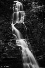 """Stripe (""""A.S.A."""") Tags: waterfall water rocks longexposure slow shutter leefilters leebigstopper nd110 neutral density europe sonya7rmkii sony2470f28gm blackwhite mono monochrome greyscale niksoftware silverefex asa2017"""