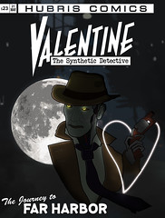Fallout 4 - Valentine Comic V2 (OChenery) Tags: fallout 4 nick valentine detective artwork comic book cover gaming