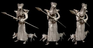 ORIGAMI - ODIN, with his Ravens and Wolves!